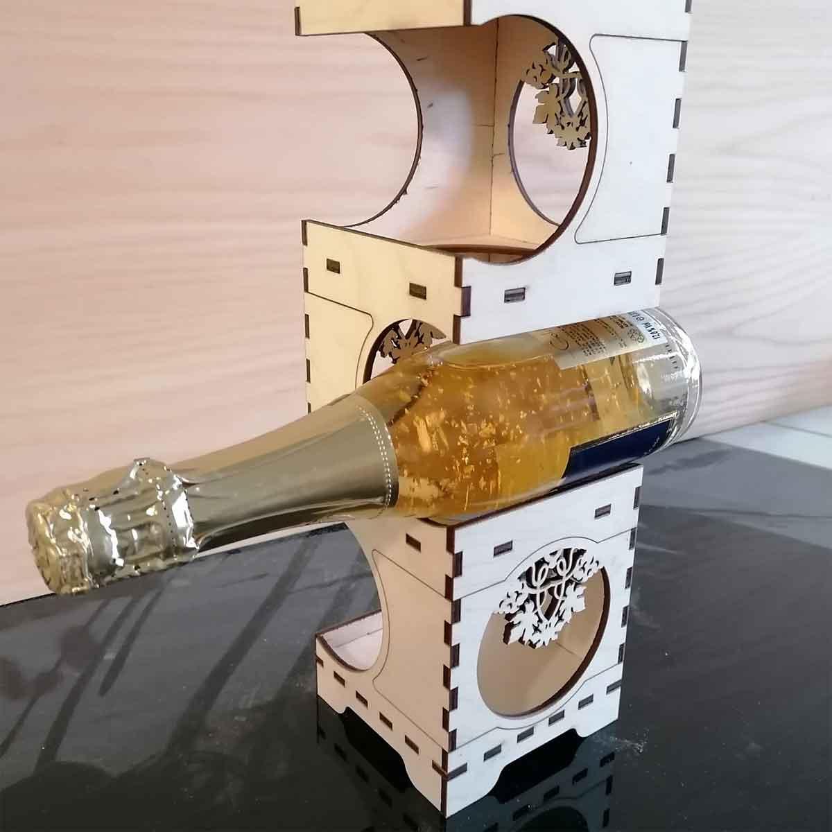 porta bottiglie legno