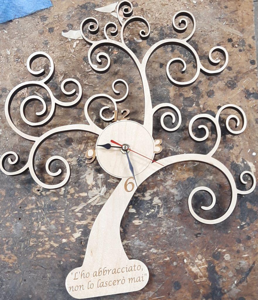 Albero della vita in legno personalizzato orologio